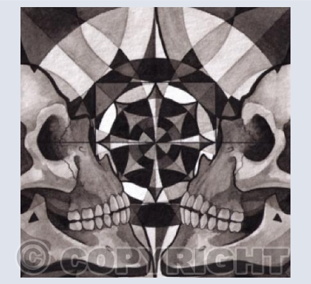 Skull mandala series - Reflection