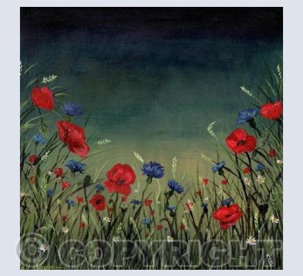 Poppies at Dusk Card