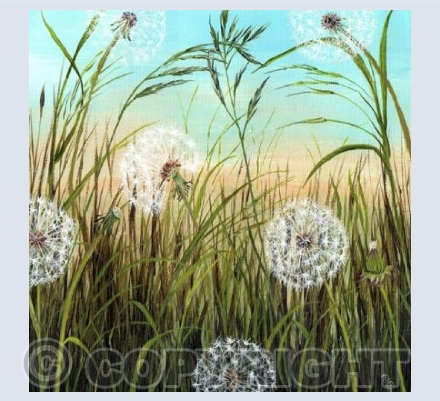 """Dandelion clocks"" by Natasha Pitts"