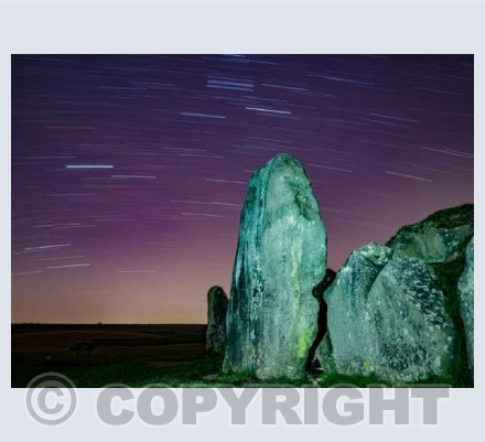 West Kennet Longbarrow startrails