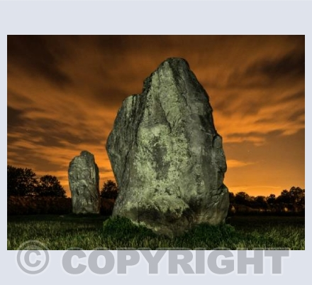 Avebury at night