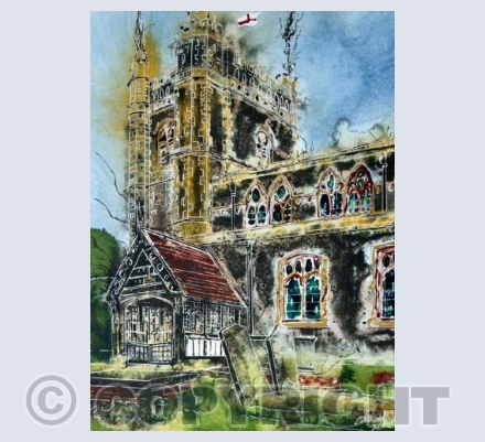 Beaconsfield Church card