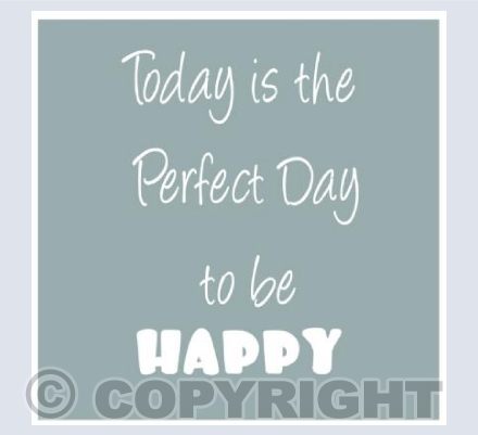 today is a perfect day - grey