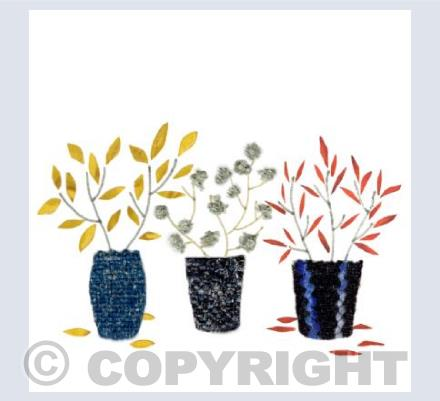 three little pots