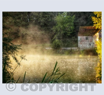 Sturminster Mill, misty morning