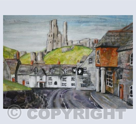 Corfe Castle in Collage