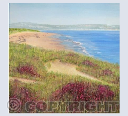 Studland Bay in Mixed Media