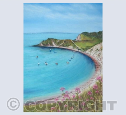 Lulworth Cove, Pastel