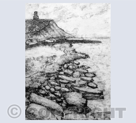 Collagraph Clavell Tower