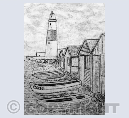 Collagraph Portland Bill
