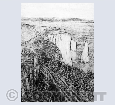 Collagraph Walk to Old Harry