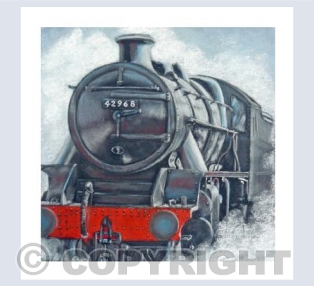 Steam Train in Pastel