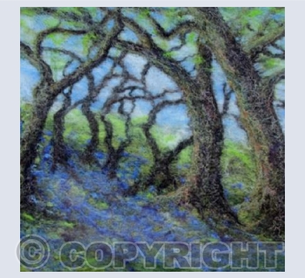 Felted Bluebell Wood