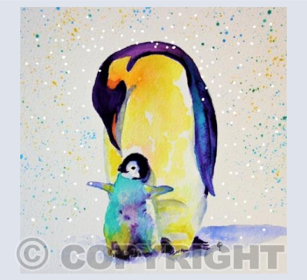 EMPEROR PENGUIN AND CHICK (2)