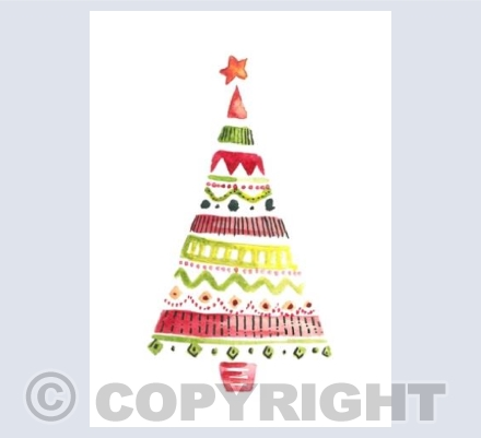 Christmas Tree in Watercolour