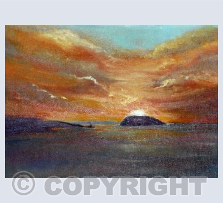 Sunset over Puffin Island, North Wales