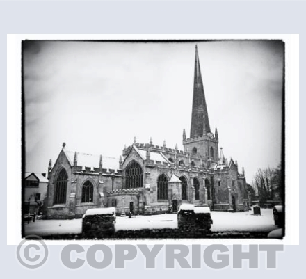 St James' Church in the Snow