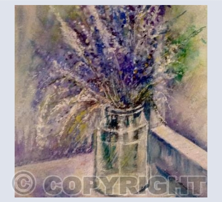 Lavender in a glass jar