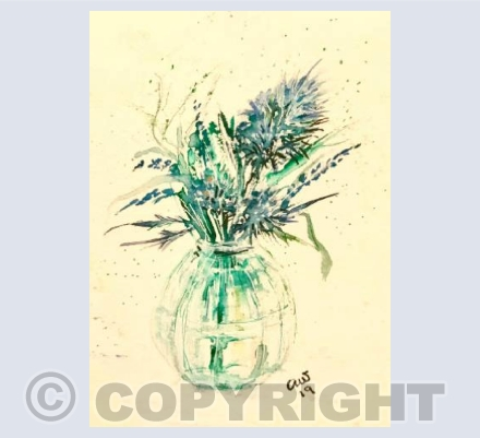 Garden in a glass jar