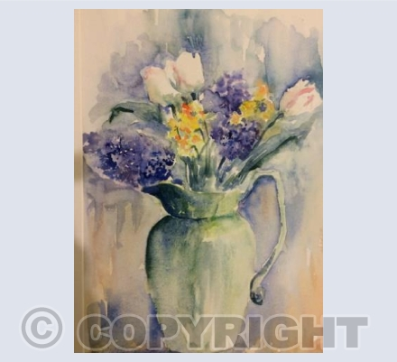 Still Life Hyacinth and Tulips
