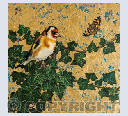 Goldfinch and painted lady