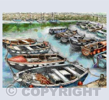 Boats in Brixham Harbour (JM)