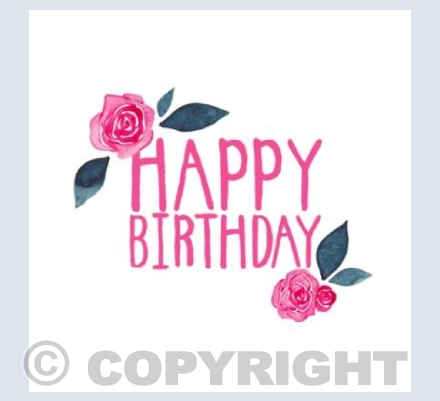 Happy Birthday Roses in Pink