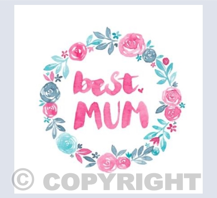 Best Mum Floral Wreath