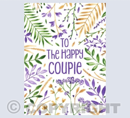 Floral Wedding Card!