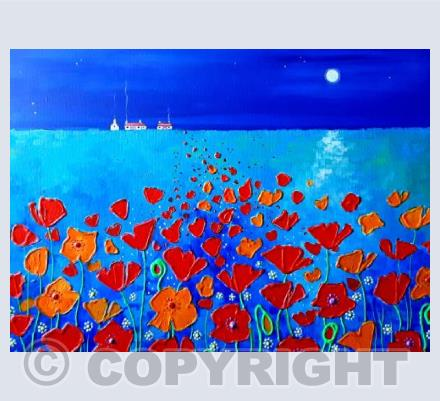 Moonlight on the Poppies