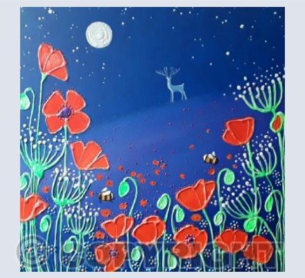 Poppies in Moonlight