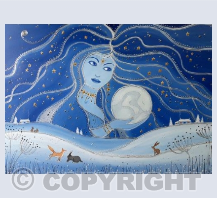 Goddess of Night and the Hare Moon