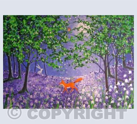 Midnight in the bluebell wood