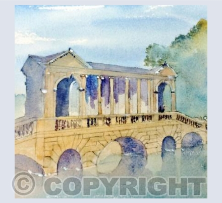 Pallladian Bridge at Prior Park Bath at dawn