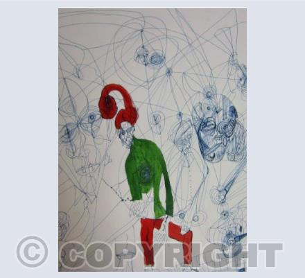 Red & Green Figure