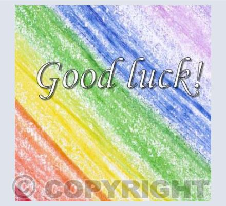 Good luck - Crayon