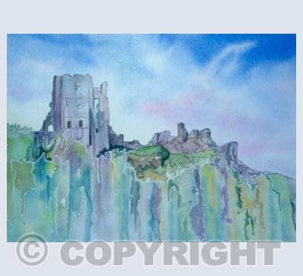 Corfe Castle - Abstract