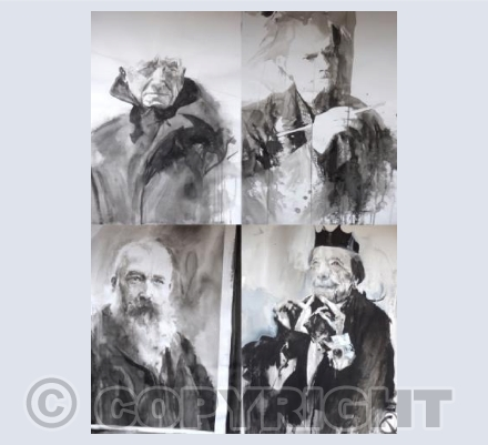 Four Portraits of Artists