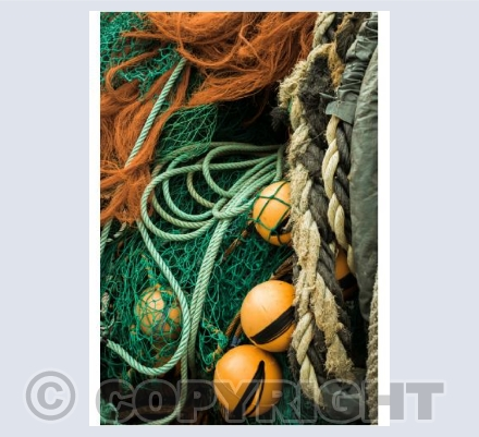 Fishing nets on Lyme Regis harbout