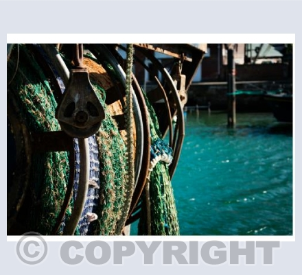 Fishing nets in Weymouth Harbour