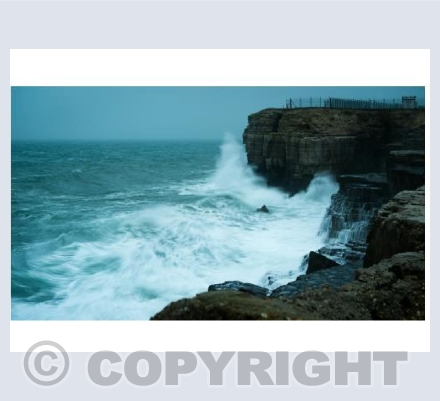 Stormy seas off Portland Bill