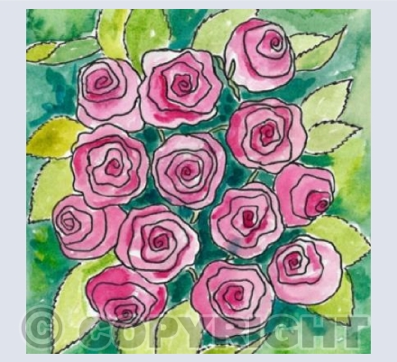 Watercolour Roses