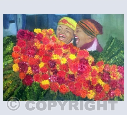 """Cape Town Flower Ladies"" South Africa"