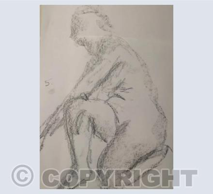 Female Nude (charcoal sketch from life)