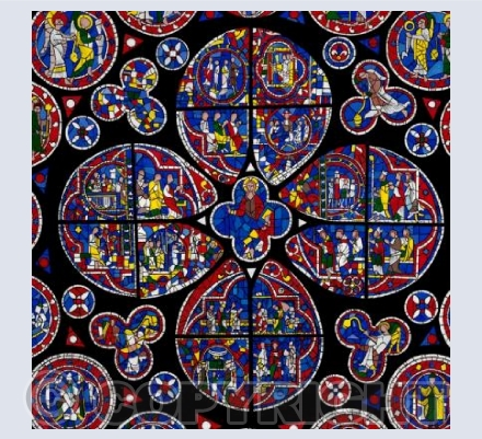 Lincoln Cathedral Rose Window Card