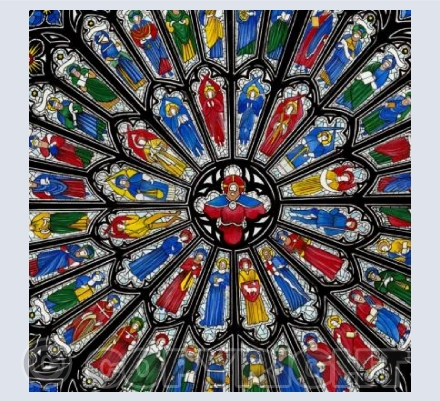 Westminster Abbey Rose Window Card