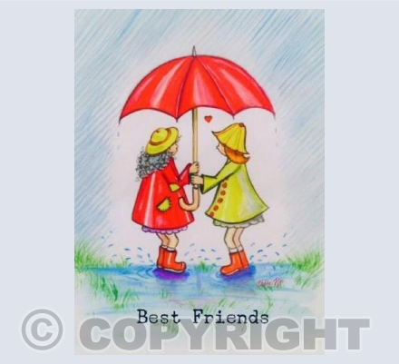 Best friends, together forever whatever the weather
