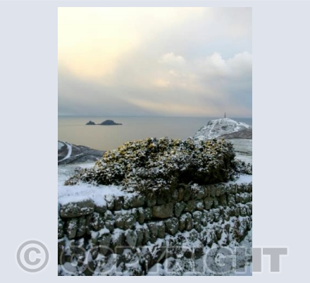 After the snow at Cape Cornwall 1 (portrait)