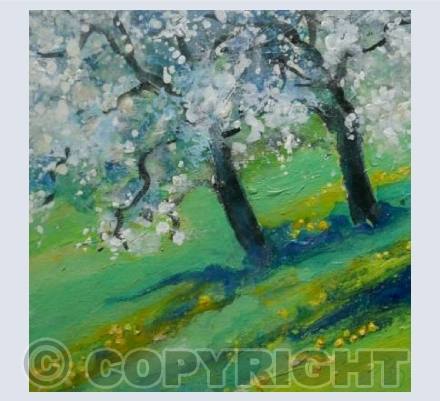 Bright Pear Blossom Froth