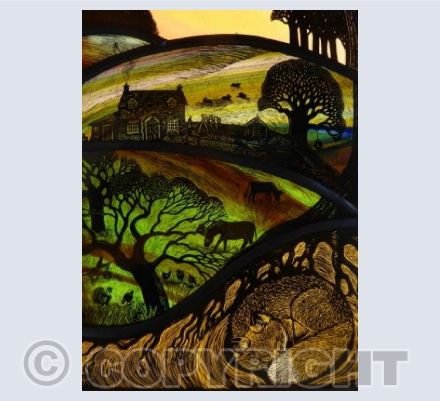 Autumn Sunset at Hill Cottage
